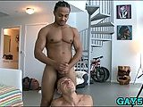 Black guy monster cock for white gay