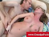 Madison Scott penetrated by old man cock