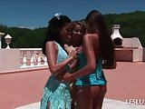 Lesbo beauty gets cunillingus