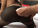 Gabriella De Carvalho in pantyhose fucked