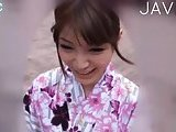 Cute geisha outdoor