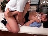 Cutie filled by masseur