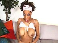 Sporty Mulatto Is Stuffed With Cock!