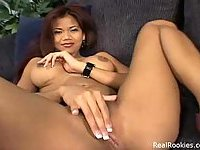 Curvy Asian Dolly Plays With Her Sextoy