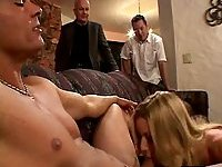 Hot wife takes oral caresses