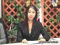 Japanese anchorwomen get facials