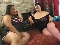 Dirty BBW lesbians in action