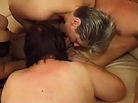 Homemade orgy with matures