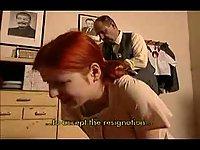 Redhead teen spanked twice