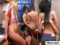 Amazing pretty teens licking