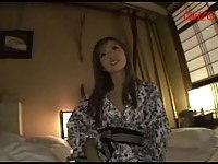 Japanese cutie banged by sucked dong