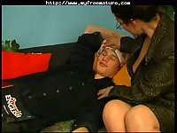 Russian teacher & student home fuck