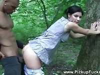 Casual sex in a forest