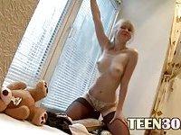 Ultra horny lingerie and huge dildo