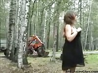 Russian Babe Outdoor