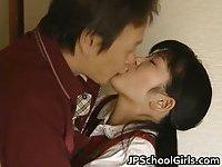 Good looking real asian teen licked