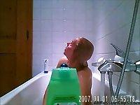 Russian Hottie Caught In Shower Spy Cam