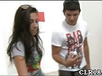 Babe gets banged at college party