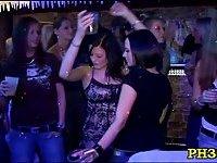 Drunk cheeks sucking dick in club scene 5