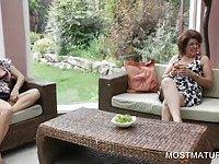 Mature dykes have outdoor pleasure