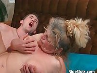 Chubby busty mature gets that hairy pussy fucked