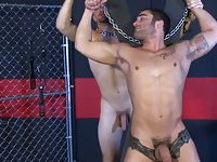 Gay jock is in charge of his eager prisoner of lust