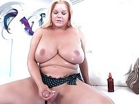 Fat bigbreasted transsexual inserts toys