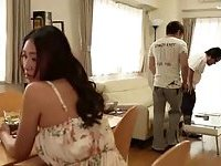 Busty Japanese loves to suck