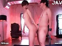 Hot Asian Babe Giving Head & Gets Fucked