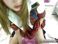 Korean gal masturbating