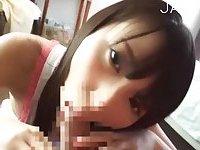 Yummy Jap gal gives head