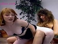 Hot lesbians use strap on for fucking