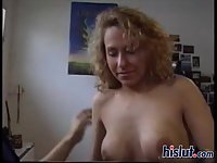 Blonde sucks and rides cock