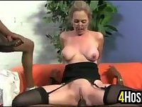 Mature Woman With Two Black Cocks