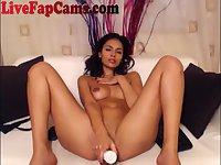Stunning Latina Webcam Girl Masturbates