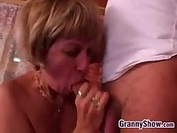 German Granny Being Smashed