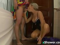 Russian MILF Fucking In A Bathroom
