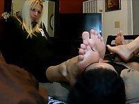 Blonde Russian Female Foot Worship Footjob