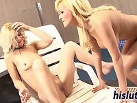 Gorgeous babes like to have fun