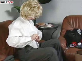 Horny crossdresser jerking cock