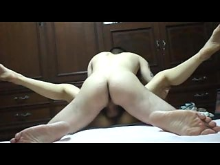 Girl Gets Stretched On A Bed