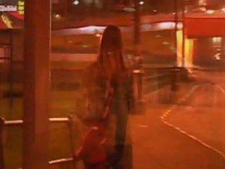 Amateur movie of public peeing girl