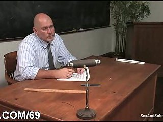 Bondage schoolgirl banged by teacher