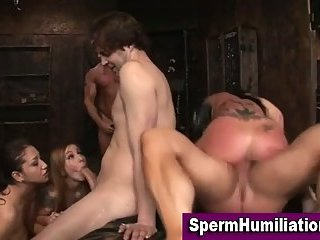 Busty Kerry Louise at kinky orgy