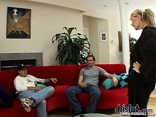 Vicky gets her asshole fat fingered by her man