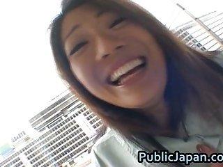 Juri Wakatsuki shows her hairy twat