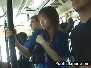 Akari Hoshino goes by bus