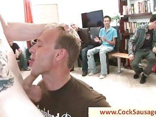 Hardcore gay sucking party