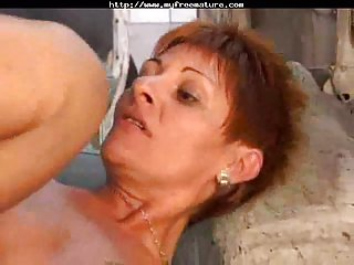 Redhead whore ass drilled in a car