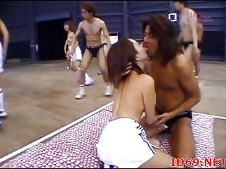 Japanese model naked in public